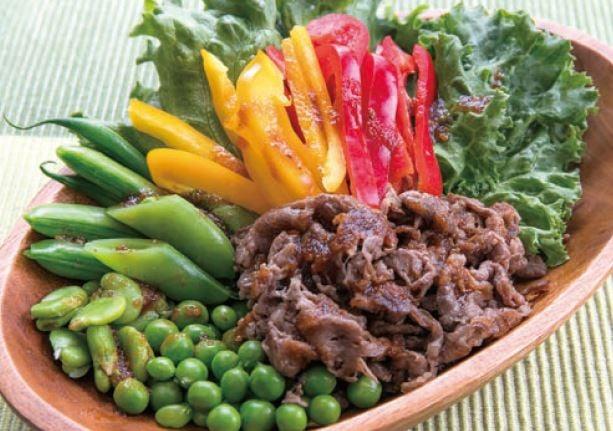 牛肉のグリーンサラダ